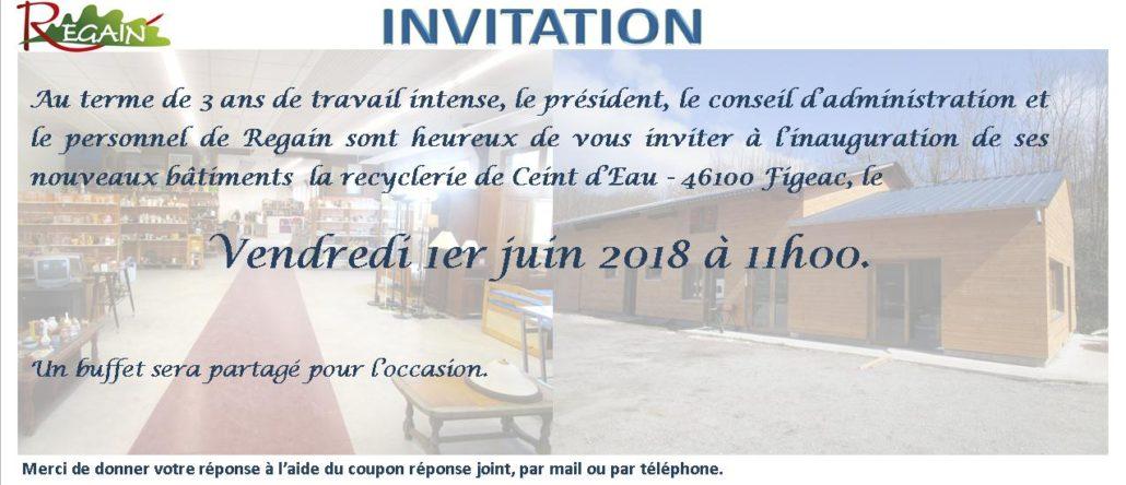 Inauguration De La Nouvelle Recyclerie à Ceint D Eau